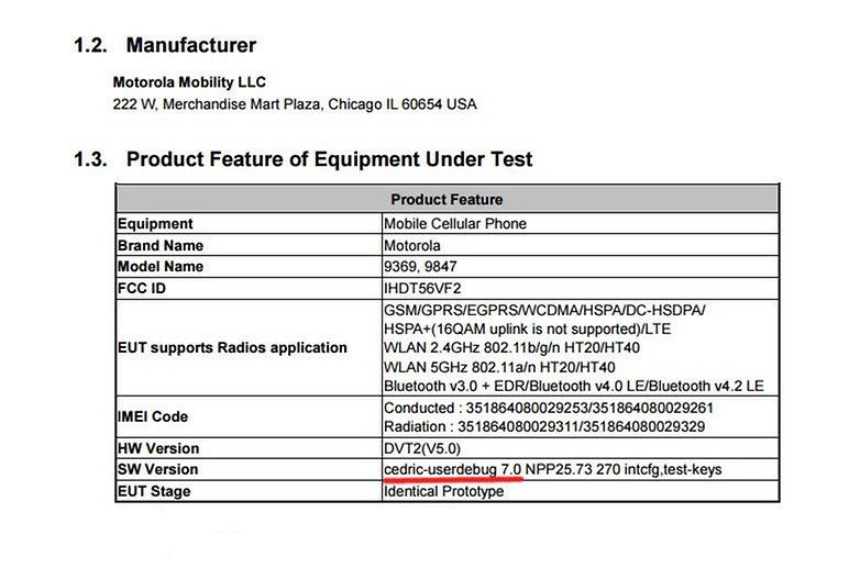 Motorola Cedric with Android 7.0 Nougat shows up at the FCC