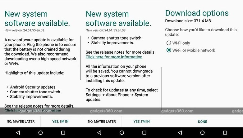 moto g 2015 android 601 update