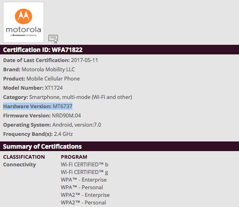 wifi certificacao motorola