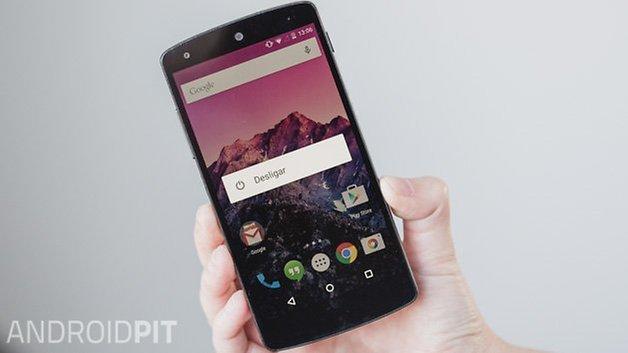 Nexus 5 botao energia opcoes