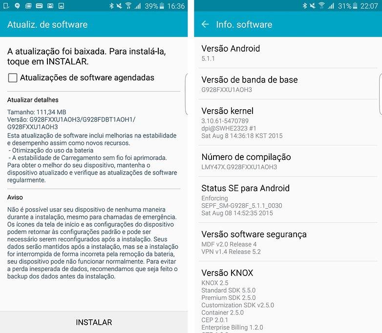 Galaxy s6 edge plus update