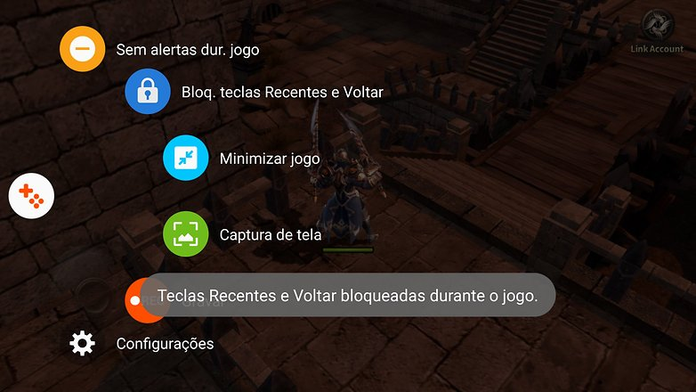 Galaxy s6 game launcher bloquear teclas