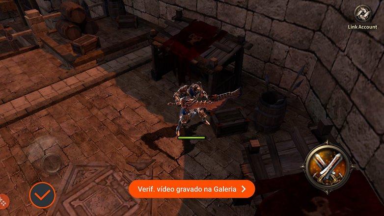 Galaxy s6 game launcher gravar tela