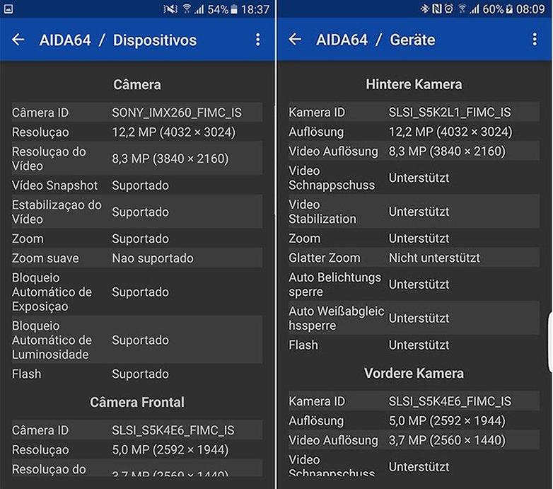 Galaxy s7 camera aida64