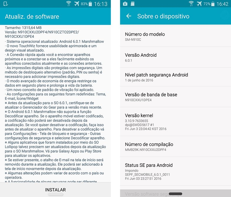 Note 4 update marshmallow