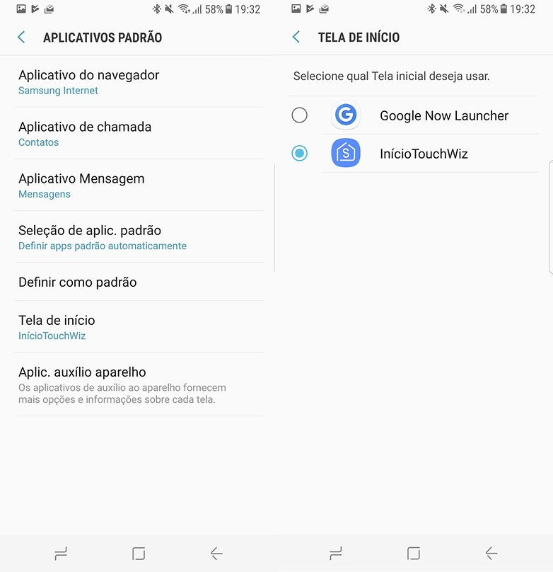 apps padrao touchwiz
