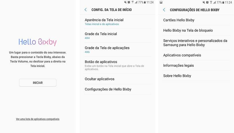 Como usar o assistente Bixby no Galaxy S7 rodando com
