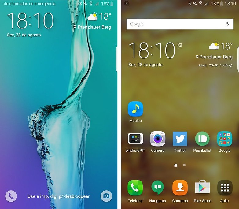 galaxy s6 edge plus tela bloqueio inicio