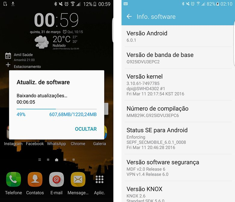 galaxy s6 edge update marshmallow