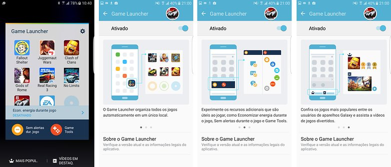 game launcher configuracao