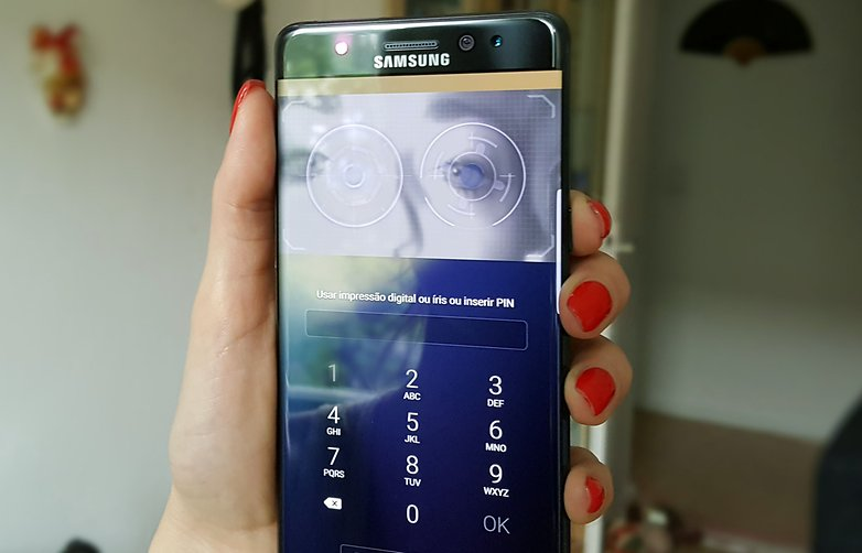samsung galaxy note 7 scanner iris hero