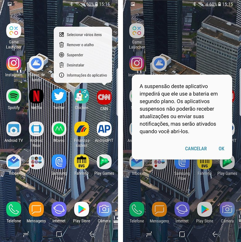 suspender apps galaxy s8