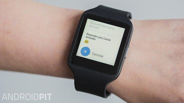 Sony smartwatch 3 review resposta whatsapp app