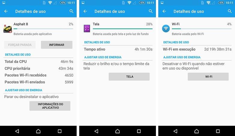 review xperia z5 consumo bateria app