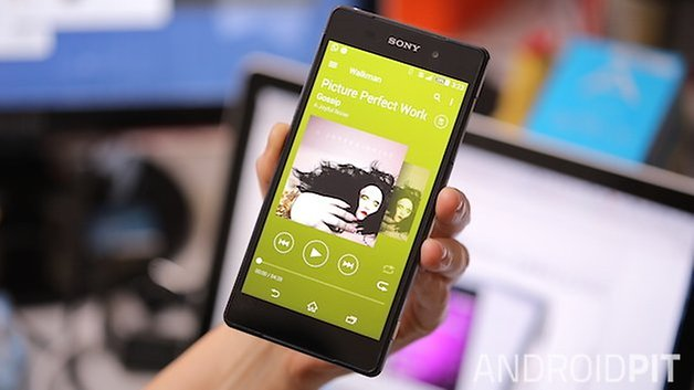 Walkman sony update material design lollipop