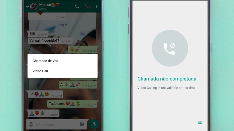WhatsApp video chamadas