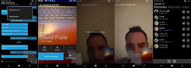 videochamadas videocall whatsapp windows phone
