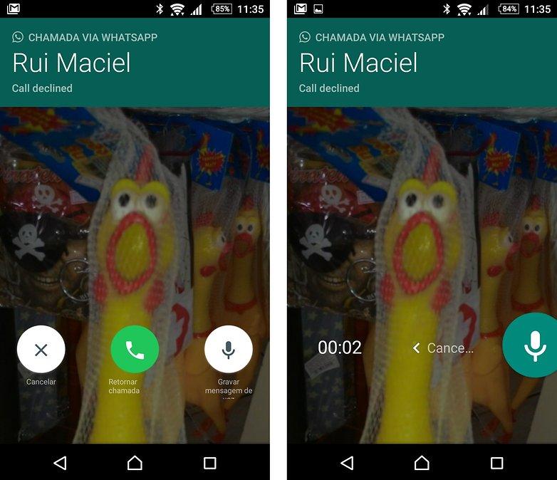 whatsapp chamda voz correio voz
