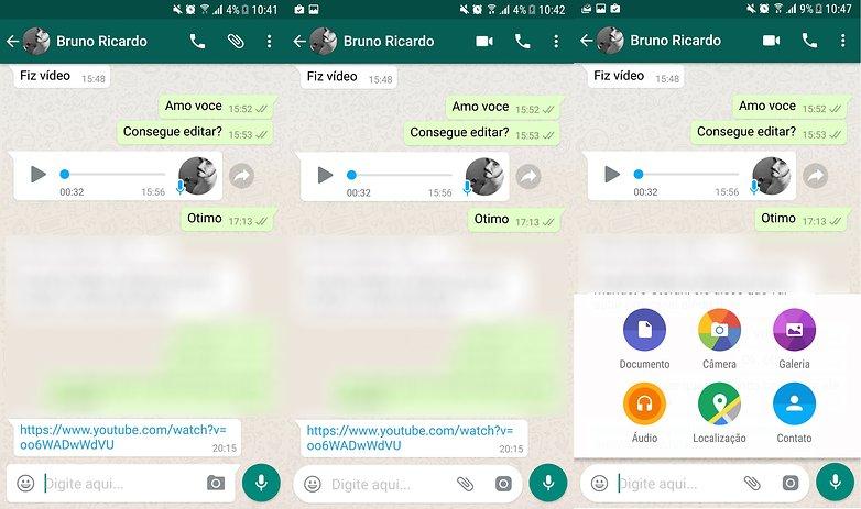 whatsapp update atalhos