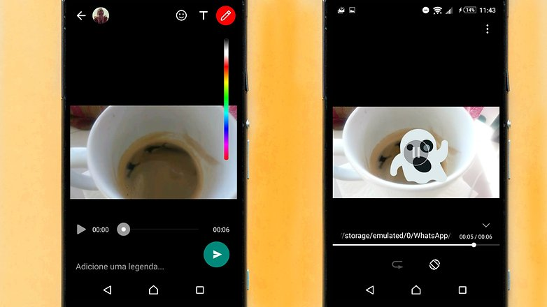 whatsapp update camera video