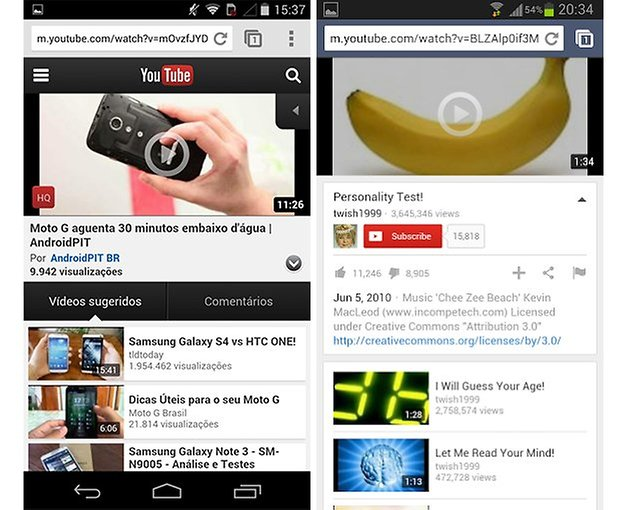 Youtube mobile web version
