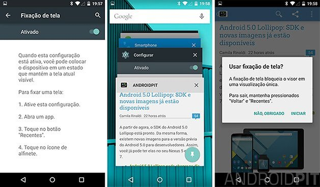 android l fixacao tela