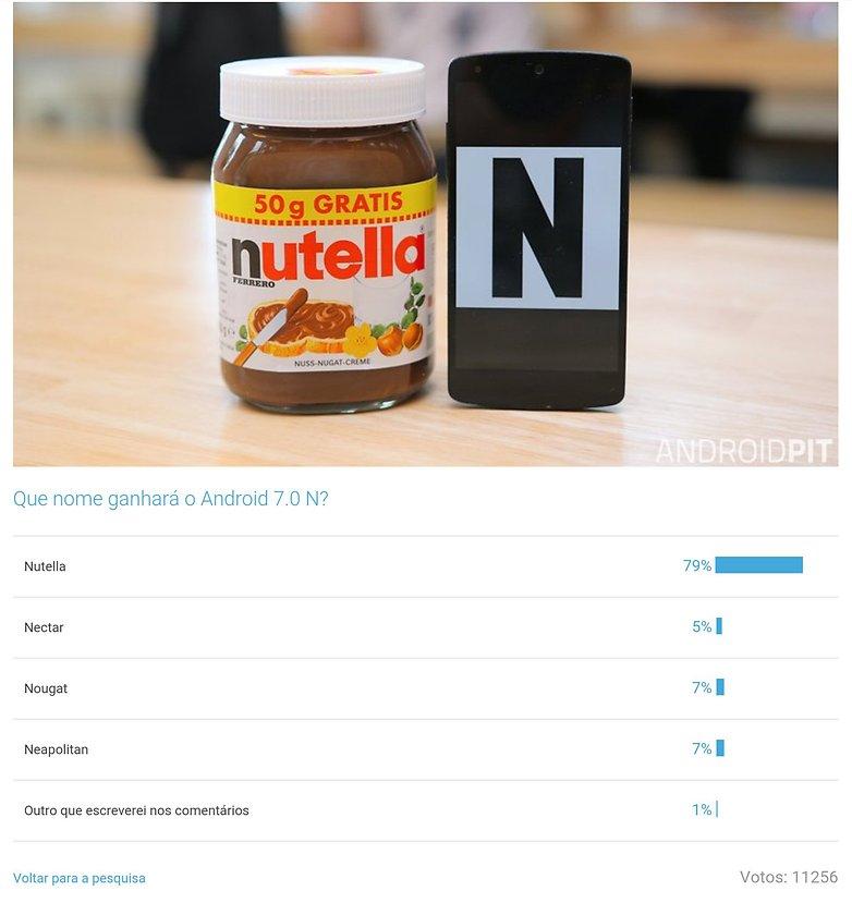 android n nutella resulato pesquisa