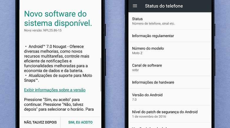 moto z android nougat