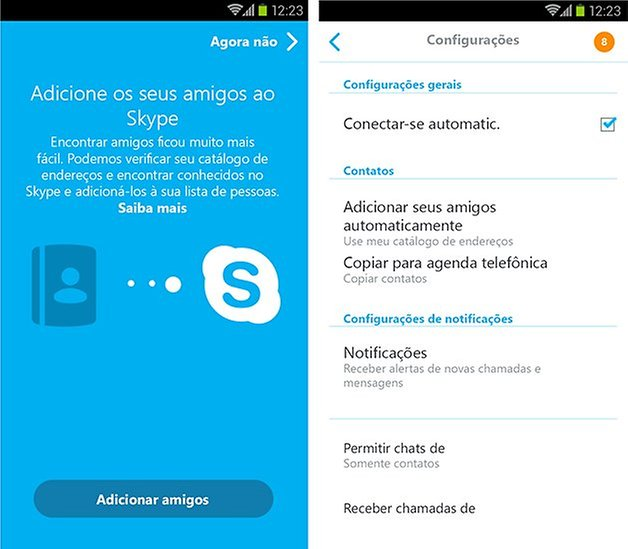 android skype 5 0