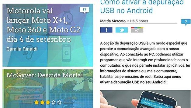 O design do AndroidPIT mudou e otimizamos a sua interação com o conteúdo