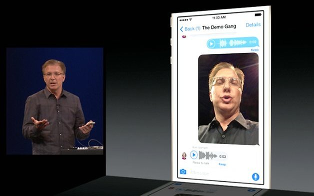audio message ios 8
