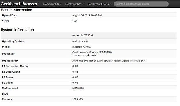 benchmark moto x1 android 444
