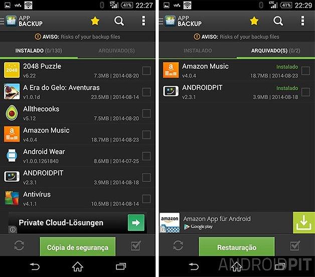 como fazer downgrade apps android