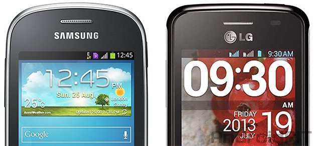 comparaca galaxy trios lg optimus l1 ii tri