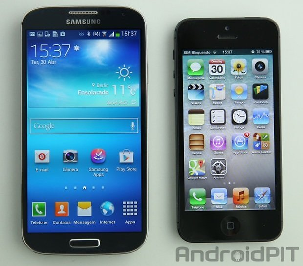 comparacao gs4 iphone5