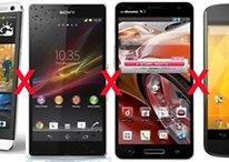 Comparação: HTC One x Sony Xperia Z x Optimus G Pro x Nexus 4