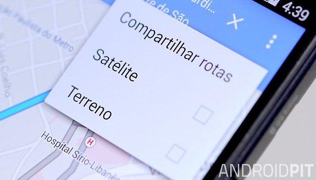 Como compartilhar rotas usando o Google Maps para Android