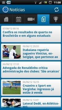 Android apps aplicativos do brasileir o 2012 7 cruzeiro for App noticias android
