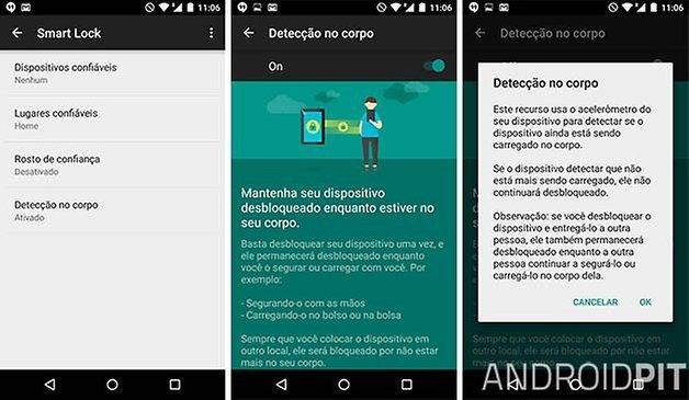 deteccao no corpo android 5 1