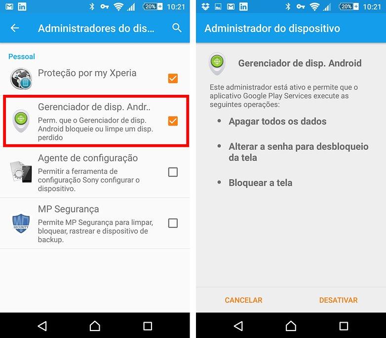 adm dispositivos android