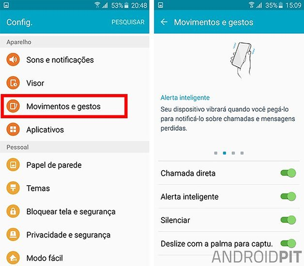 galaxy s6 alerta inteligente
