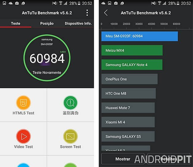 galaxy s6 benchmark 64 bits