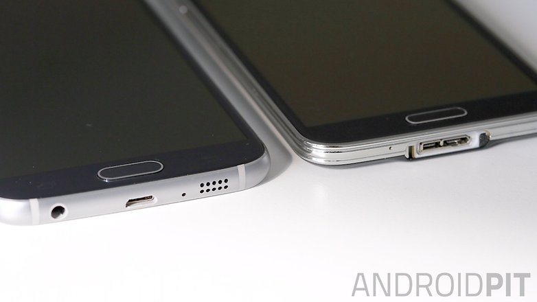 galaxy s6 galaxy s5 comparacao lateral