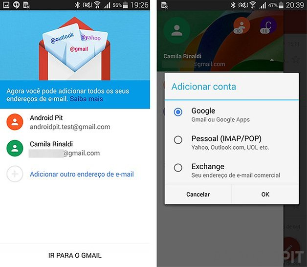 gmail novo exchange