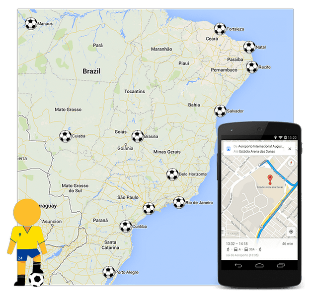 google maps copa do mundo