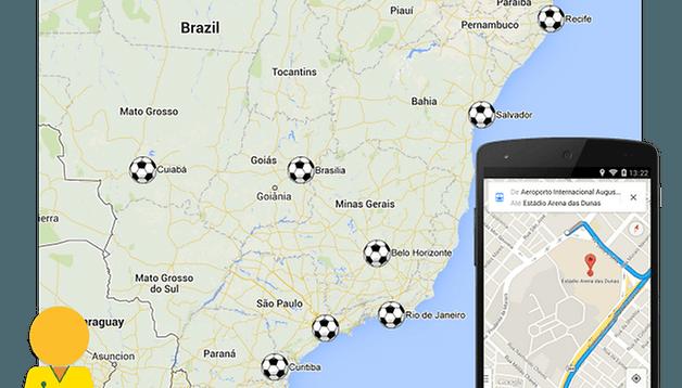 Google Maps amplia recurso de trânsito para a Copa do Mundo FIFA 2014