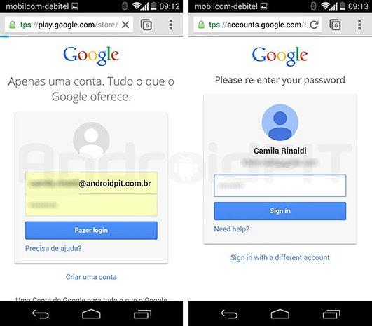 Google Play web mobile