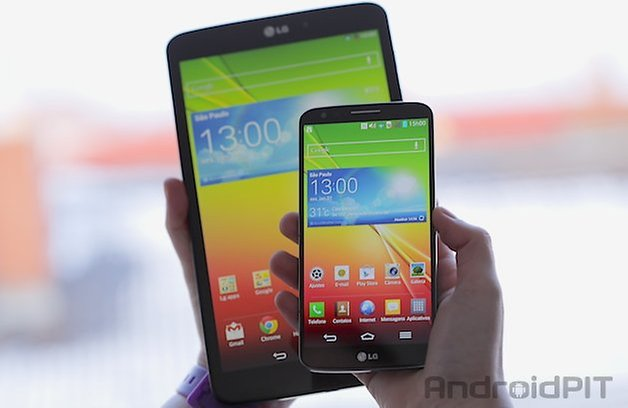 lG G Pad 83 comparacao