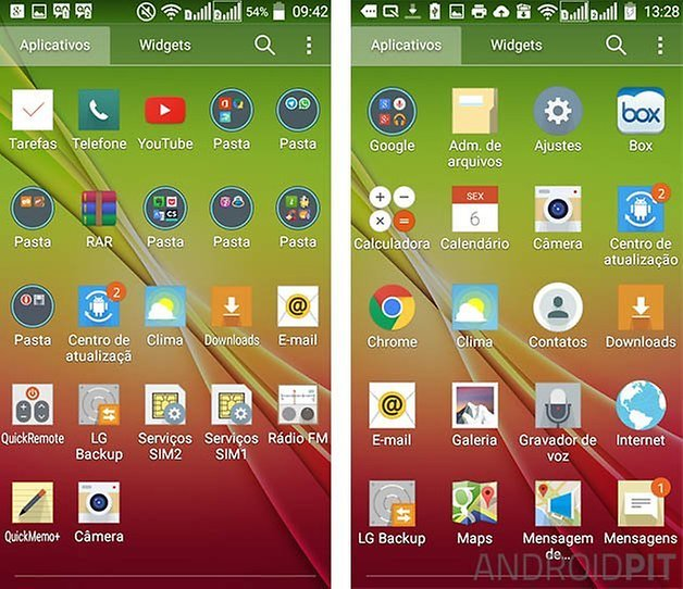 lg l90 android lollipop atualizacao gaveta apps