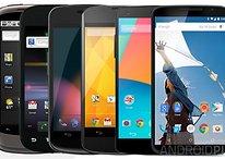 Evolución de la familia Google Nexus